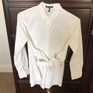 Isabella Oliver button down maternity blouse.